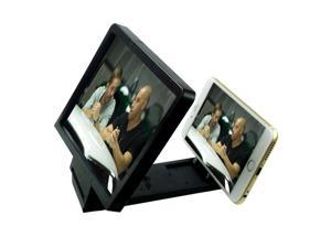 Foldable Mobile Phone Screen Magnifier Amplifier Enlarge Expander 3D Magnifier Screen Bracket Stand For Cell Phone for Samsung HTC LG iPhone 5S 6 White/Black Colors