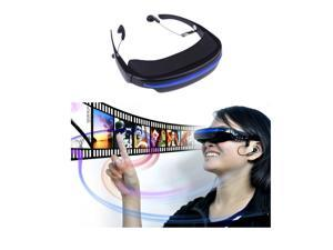 """Virtual Private Theatre Video Glasses 4GB 72"""" 16:9 Virtual Wide Screen Video Glasses Eyewear Mobile Private Theater with AV Input Card Slot"""