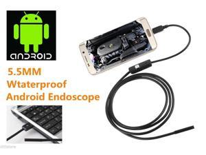 5.5mm Lens 6 LED Endoscope Borescope Tube Camera fo Android Cellphone Tablet PC,  7M (22.96ft) Long.