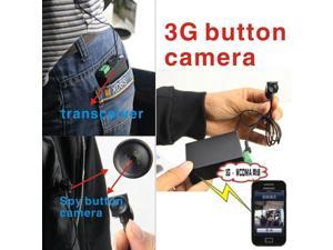 3G Button Mini Hidden Camera Spy Surveillance Remote WiFI Wireless Covert Security Real Time Monitoring Audio Video Pictures Recording iPhone Android GSM DVR