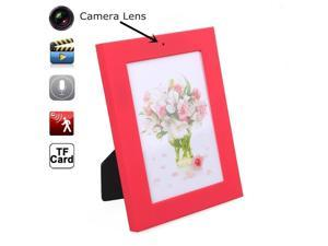 Photo Frame Spy Hidden Camera Mini DVR Audio Video Camera Recorder Hidden Camcorder Motion Detection 8GB (Red)