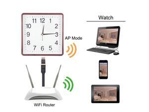 KSRplayer@8GB 1280x720P HD Wifi Spy Camera Clock Motion Detective SD Card Video Recorder