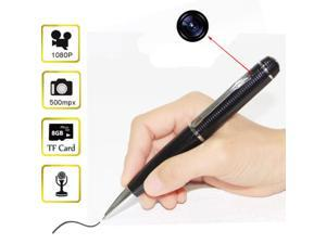 8GB 1080P HD Spy Pen Mini Camera Hidden Camcorder DVR Pinhole Video Recorder New(Silver)