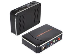 Newesst HD Game Video Capture 1080P HDMI Portable Game Video YPBPR Recorder US/EU/UK/AU Adapter Plug for Game Lovers