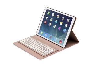 KSRplayer iPad Pro 12.9 Case with Keyboard  Rechargeable, F16S+ Automatic connection bluetooth keyboard + Smart Folio PU Leather Case