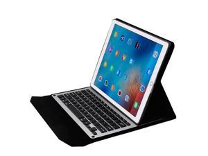 KSRplayer iPad Pro 9.7 Case with Keyboard  Rechargeable, F16S+ Automatic connection bluetooth keyboard + Smart Folio PU Leather Case