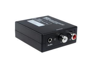 Mini 24bit D2A Audio Converter Digital to Analog Optical Coaxial Toslink to Analog RCA L/R Audio Converter Box(Black)