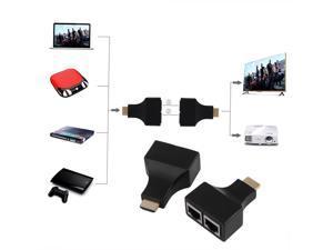 30M/100 Feet HDMI Dual RJ45 CAT 5E CAT 6 UTP LAN Ethernet HDMI Extender Repeater 1080P For HDTV HDPC PS3 STB