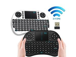 i8 2.4GHz Wireless Fly Air Mouse Gaming Keyboard Touchpad for Andriod Google TV (Black)