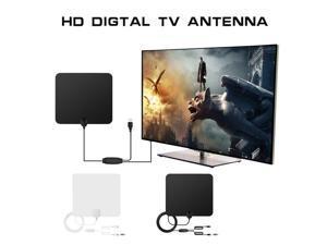 HD TV Amplified Indoor Digital TV Antenna High Gain HDTV 50 Miles Range ATSC DVB ISDB Detachable Signal Amplifier