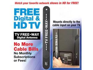 New TV Free Away Digital TV Antenna 35 Mile Range HDTV Indoor with 9.8 Feet Coax Cable
