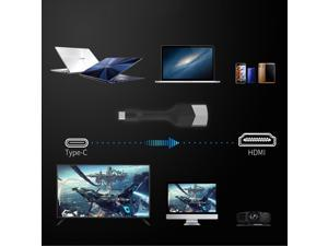 USB 3.1 Type C to HDMI Monitors HDTV Video Audio Cable Adapter 4K 30HZ ULTRA HD Foldable