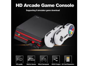 RS-34 HDMI HD Video Game Entertainment System Classic Mini TV Game Console With Built-in 600 Games, 2pcs USB Cable Controller (support HDMI HD + AV video dual output function