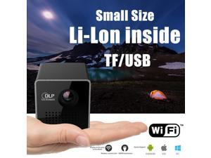 Mini Projector WiFi LED DLP Video Projector 1080P Compatible with TF Card, Airplay for Video / Movie / Game / Home Theater (Projector) P1