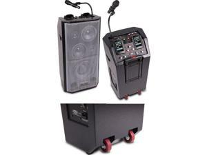 Dj Tech IBOOST103 All-in-one Mobile Dj-pa Active Stereo Pa System W/ Dual Ipod/iphone Docks W/280 Watts Max