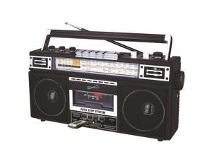Supersonic SC-3201BT-BK Retro 4-band Radio And Cassette Player With Bluetooth