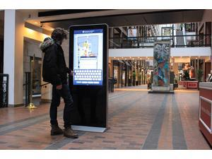 49inch LG IPS Panel IR Touch Screen Kiosk Totem for Way Finding