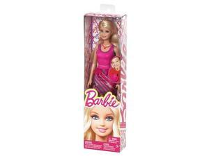 Barbie Super Style Light Pink Dress Doll with Ring Shoes Necklace BFW14