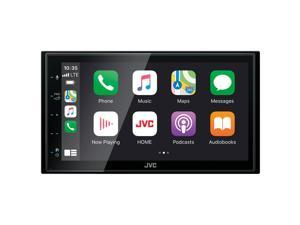 "JVC KW-M56BT Digital Media Receiver w/ 6.8"" Touch Panel Compatible With Apple CarPlay & Android Auto + Bluetooth, 13-Band EQ, Shallow Chassis"