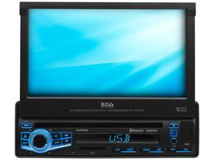 "Boss BV860B Single-DIN, DVD Player 7"" Motorized Touchscreen Bluetooth"