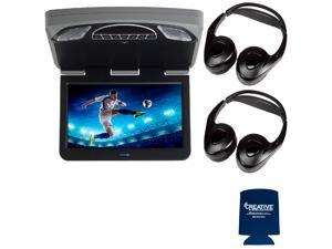 "Audiovox Overhead Mobile Video MTGBAVX13 13.3"" High Def System with DVD and HDMI with 2 pair of headphones"