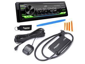 JVC KD-X370BTS Digital Media ReceiverW/ BT, USB, Amazon Alexa + Included SirusXM SXV300 Satellite Radio Tuner