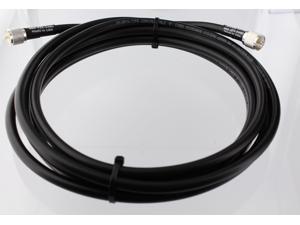 Times Microwave RG-8u-PL259-30ft RG8u HF UHF VHF  Coax Antenna RF Cable with Silver Teflon UHF Connectors 30 Feet