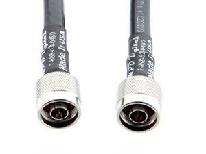 N-Male to N-Male LMR-400 Cable| Times Microwave Ultra Low Loss LMR400 Coax Made in USA by MPD Digital (TM) (25 ft)