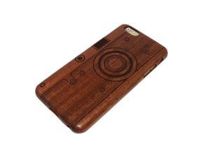 Genuine Natural Grove Wooden Wood Bamboo Timber Protective Hard PC Snap One Back Case Cover For Apple iPhone 6 (4.7 inch) with Screen Protector - Camera