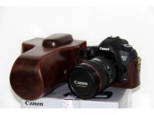 Protective PU Leather Camera Case Bag with Tripod Design Compatible For Canon EOS 650D ...