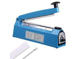 "8"" 200mm Impulse Manual Hand Sealer Heat Sealing Machine Poly Tubing Plastic Bag"