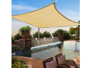 12'x12' Square Sun Shade Sail UV Blocking Canopy Outdoor Patio Lawn w/ Free Rope