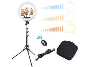 """Yescom 17"""" LED Ring Light Kit Dimmable with Stand for Makeup Live Stream Video Selfie"""