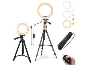 """Yescom 10"""" Dimmable Selfie LED Ring Light with Tripod Stand Phone Holder for Livestream"""