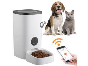Yescom 6L Smart APP Automatic Pet Feeder 1080P Camera Voice Record Food Dispenser Dog Cat Bowl