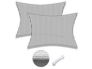 Yescom 2 Pack 13x10 Ft 97% UV Block Rectangle Sun Shade Sail Canopy Cover Net Patio
