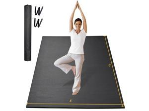 Yescom 6x4 Ft Extra Large Exercise Mat for Yoga Cardio Workout Home Gym Non Slip 6mm