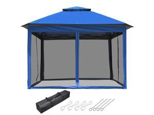 Yescom 11x11 Ft Pop-Up Gazebo Tent with Mesh Sidewall UV50+ Canopy Outdoor Patio Picnic