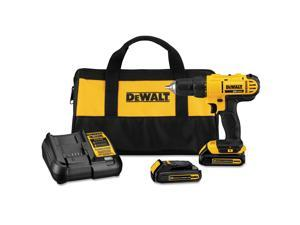 Dewalt DCD771C2 20V MAX Compact Lithium-Ion 1/2 in. Cordless Drill/Driver Kit (1.3 Ah)