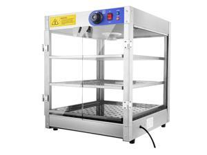 """3-Tier 110V Commercial Countertop Food Pizza Warmer 750W 24x20x20"""" Pastry Display Case"""