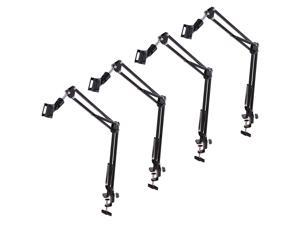 4x Mic Microphone Suspension Boom Scissor Arm Stand Holder Adjustable Studio Broadcast DJ NB-35