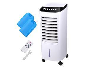 65W Evaporative Air Cooler Energy Saving Fan Humidifier w/ Remote Control Ice Boxes Home Office Dorm