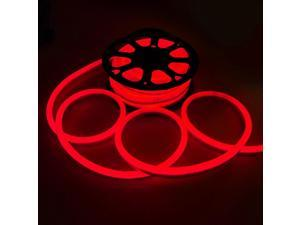 DELight® 50FT Red Flexible LED Neon Rope Light Outdoor Holiday Party Decor Lighting 110V