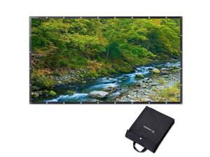 """Instahibit® 150"""" 16:9 Portable Front Projection Screen Foldable PVC 4K HD Home"""