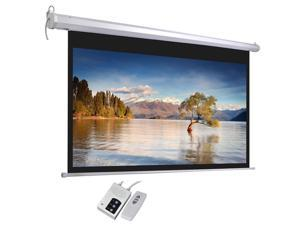 """92"""" 16:9 Motorized Electric Projector Projection Screen 80x45"""" Remote Control"""