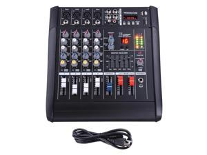 4 Channel Pro Powered Mixer Audio Mixing Amplifier Amp 16DSP w/ USB Slot
