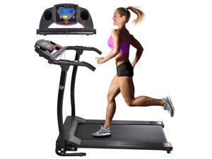 1100W Folding Electric Treadmill Portable Power Motorized Machine Running Jogging Gym Fitness