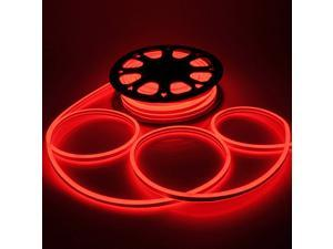 50ft LED Flexible Neon Stripe Light Xmas Party Decor Lighting Double Sided SMD2835 Red