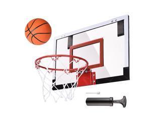 "Pro 18x12"" Mini Basketball Hoop 5.5"" Diameter Hoop Basketball w/ Pump Exercise Sport"