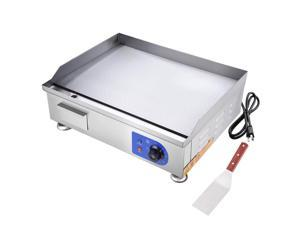 """24"""" 2500W Electric Countertop Griddle Stainless Steel Adjustable Temp Control Commercial Restaurant"""